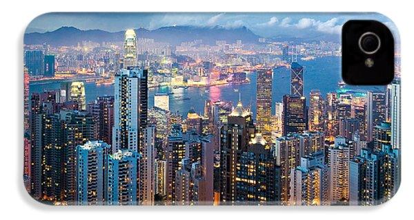 Hong Kong At Dusk IPhone 4 Case by Dave Bowman