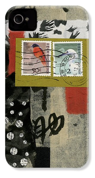 Hong Kong Postage Collage IPhone 4 Case by Carol Leigh