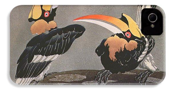 Hornbills IPhone 4 Case by Ethleen Palmer