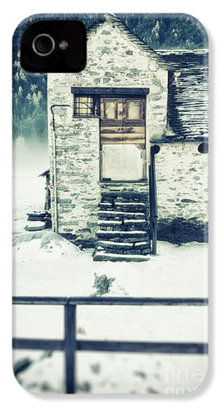 House Near The Wood IPhone 4 Case by Silvia Ganora
