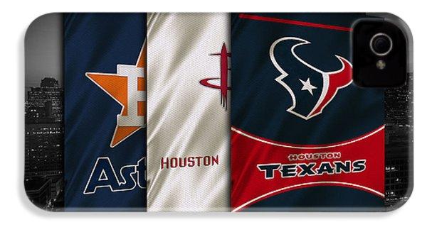 Houston Sports Teams IPhone 4 Case by Joe Hamilton
