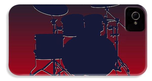 Houston Texans Drum Set IPhone 4 Case by Joe Hamilton