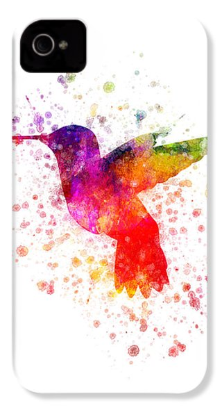 Hummingbird In Color IPhone 4 Case by Aged Pixel