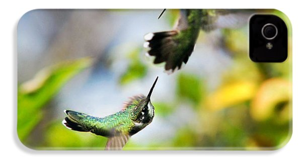 Hummingbirds Ensuing Battle IPhone 4 / 4s Case by Christina Rollo