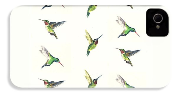 Hummingbirds Number 2 IPhone 4 Case by Michael Vigliotti
