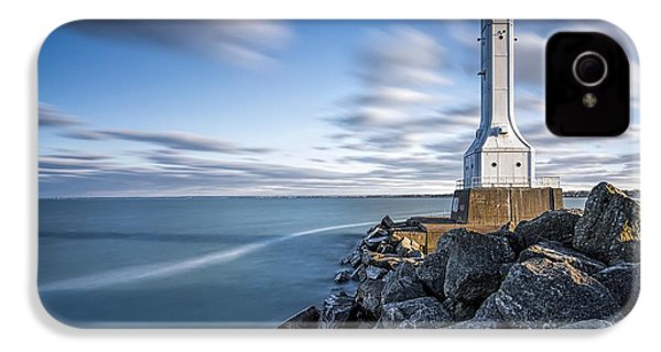 Huron Harbor Lighthouse IPhone 4 / 4s Case by James Dean