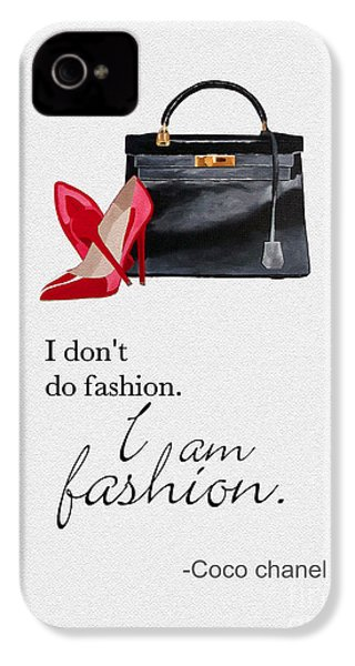I Am Fashion IPhone 4 Case by Rebecca Jenkins