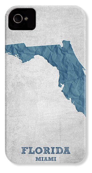 I Love Miami Florida - Blue IPhone 4 Case by Aged Pixel