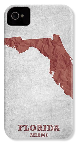 I Love Miami Florida - Red IPhone 4 Case by Aged Pixel