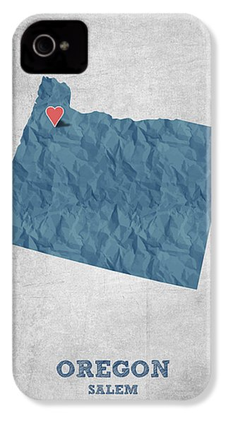 I Love Salem Oregon- Blue IPhone 4 Case by Aged Pixel