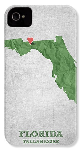 I Love Tallahassee Florida - Green IPhone 4 Case by Aged Pixel