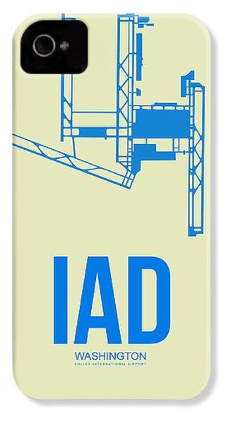 Iad Washington Airport Poster 1 IPhone 4 Case by Naxart Studio