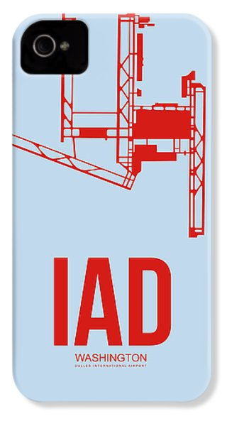 Iad Washington Airport Poster 2 IPhone 4 Case by Naxart Studio