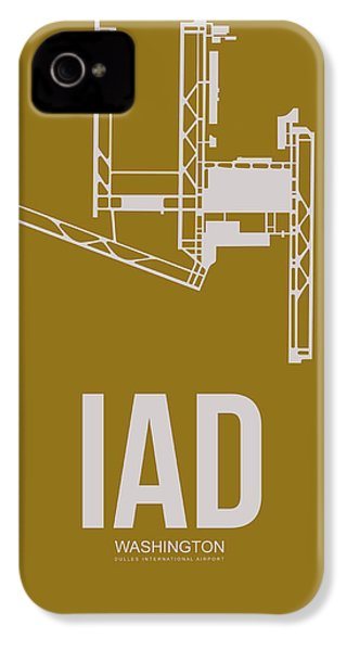 Iad Washington Airport Poster 3 IPhone 4 Case by Naxart Studio
