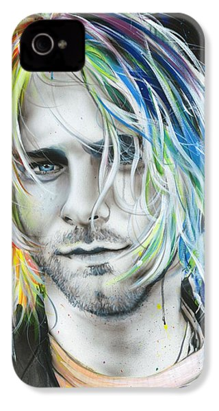 Kurt Cobain - ' In Debt For My Thirst ' IPhone 4 Case by Christian Chapman Art