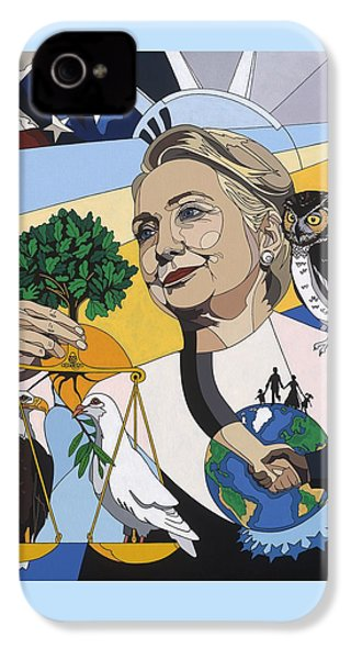 In Honor Of Hillary Clinton IPhone 4 / 4s Case by Konni Jensen