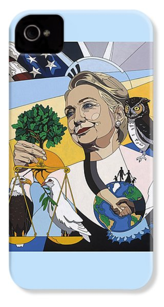 In Honor Of Hillary Clinton IPhone 4 Case by Konni Jensen