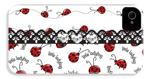 Innocent Ladybugs  IPhone 4 Case by Debra  Miller