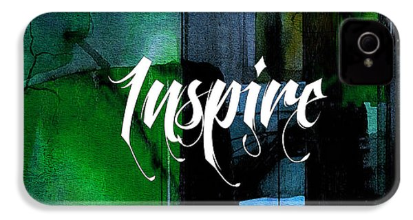 Inspire Wall Art IPhone 4 / 4s Case by Marvin Blaine