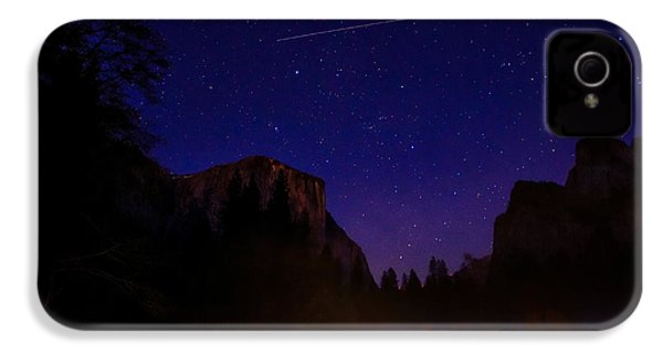 International Space Station Over Yosemite National Park IPhone 4 / 4s Case by Scott McGuire