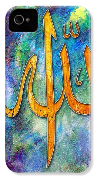 Islamic Caligraphy 001 IPhone 4 Case by Catf