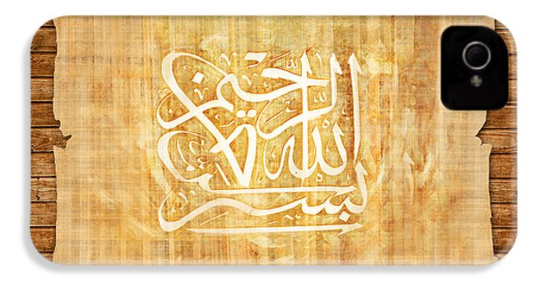 islamic Calligraphy 032 IPhone 4 Case by Catf