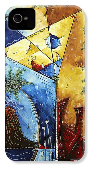 Island Martini  Original Madart Painting IPhone 4 / 4s Case by Megan Duncanson