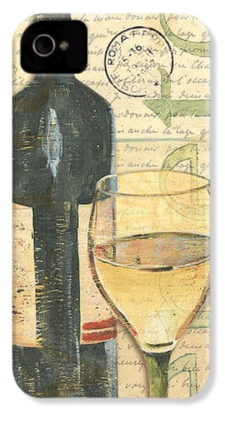 Italian Wine And Grapes 1 IPhone 4 Case by Debbie DeWitt