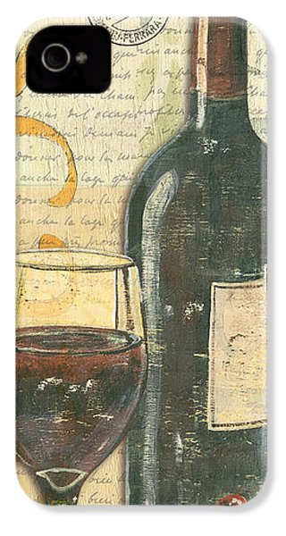 Italian Wine And Grapes IPhone 4 Case by Debbie DeWitt