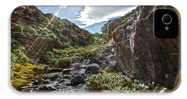 IPhone 4 Case featuring the photograph Its Raining Rainbows by Miroslava Jurcik