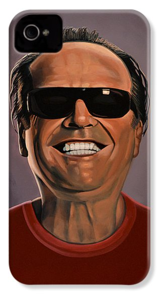 Jack Nicholson 2 IPhone 4 Case by Paul Meijering