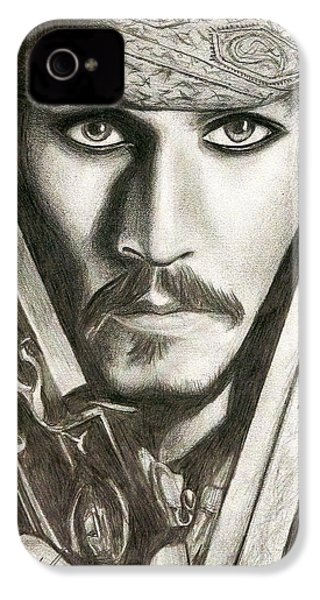 Jack Sparrow IPhone 4 / 4s Case by Michael Mestas