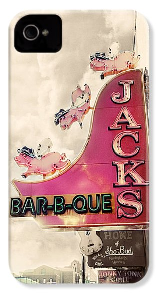 Jacks Bbq IPhone 4 Case by Amy Tyler