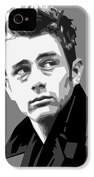 James Dean In Black And White IPhone 4 Case by Douglas Simonson