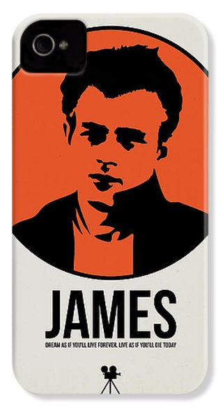 James Poster 1 IPhone 4 Case by Naxart Studio