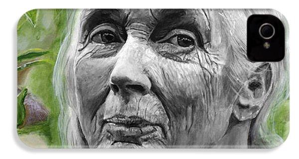 Jane Goodall IPhone 4 Case by Simon Kregar