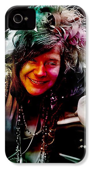 Janis Joplin IPhone 4 Case by Marvin Blaine