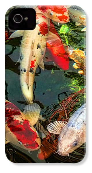 Japanese Koi Fish Pond IPhone 4 Case by Jennie Marie Schell