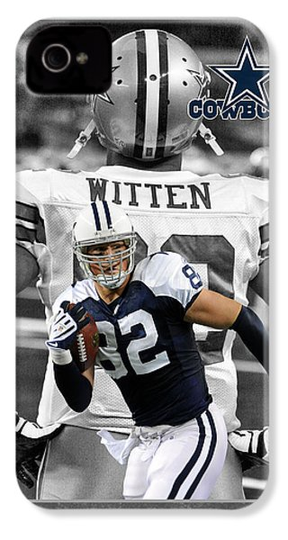Jason Witten Cowboys IPhone 4 Case by Joe Hamilton