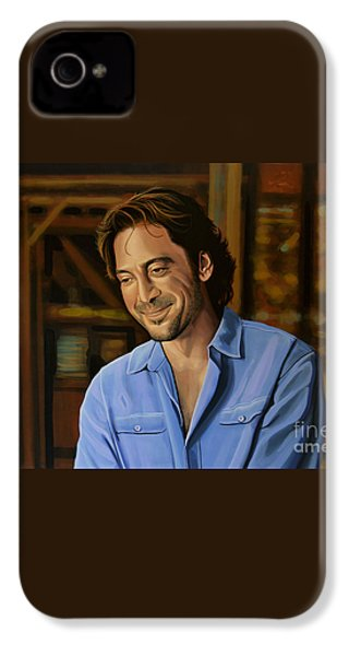 Javier Bardem Painting IPhone 4 Case