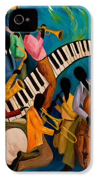 Jazz On Fire IPhone 4 Case by Larry Martin