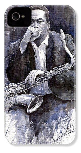 Jazz Saxophonist John Coltrane Black IPhone 4 / 4s Case by Yuriy  Shevchuk