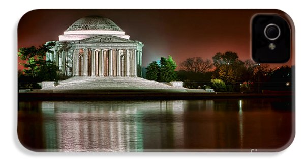 Jefferson Memorial At Night IPhone 4 Case by Olivier Le Queinec