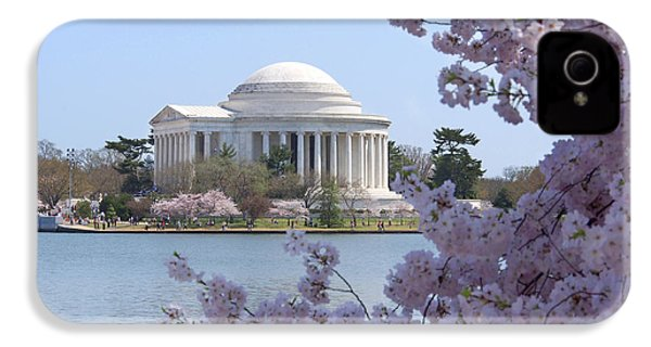 Jefferson Memorial - Cherry Blossoms IPhone 4 Case by Mike McGlothlen