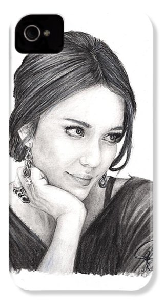 Jessica Alba IPhone 4 / 4s Case by Rosalinda Markle