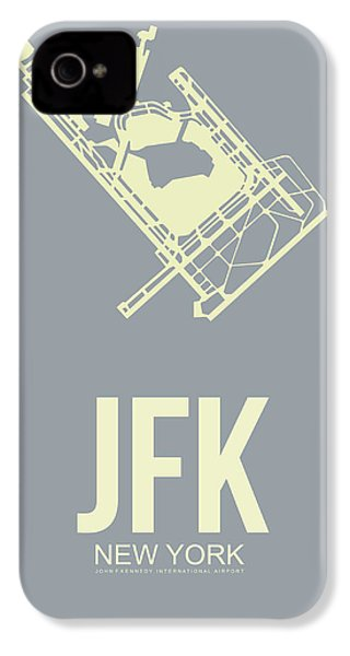 Jfk Airport Poster 1 IPhone 4 Case by Naxart Studio