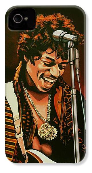 Jimi Hendrix Painting IPhone 4 Case