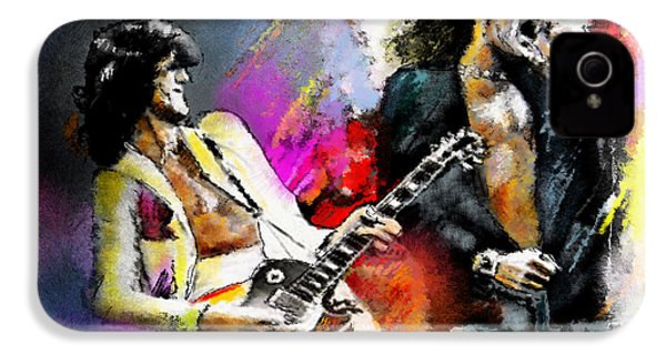 Jimmy Page And Robert Plant Led Zeppelin IPhone 4 Case by Miki De Goodaboom