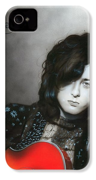 ' Jimmy Page ' IPhone 4 Case by Christian Chapman Art
