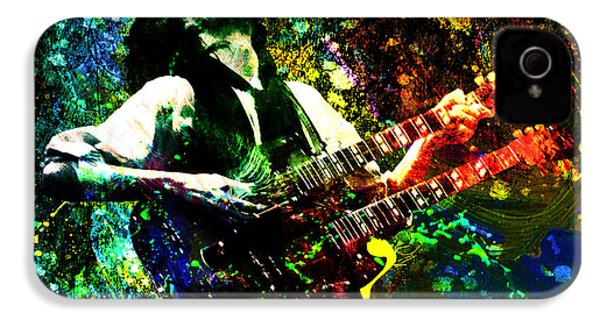 Jimmy Page - Led Zeppelin - Original Painting Print IPhone 4 / 4s Case by Ryan Rock Artist